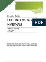 Vietnam Food Beverage July 2011