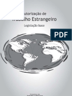 Autorização de Trabalho estrangeiro – Legislação Base