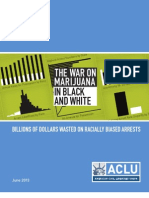 Aclu The war on marijuana