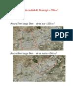Área total de la cd de Durango