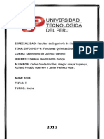 Informe N°4 del Laboratorio de Química General