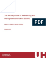 Faculty Referencing Guidelines 2009-10