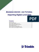 Tutorial 4. Importing Digital Level Data