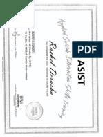 asist certificate