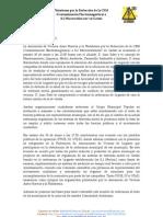 Nota de Prensa Plataforma