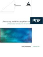 Developing and Managing Contracts