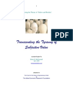Transcending the Tyranny of Subjective Value - Paper Proposal