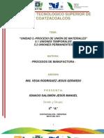 Unidad 5.- Proceso de Union de Materiales