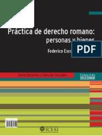 PRÁCTICA DE DERECHO ROMANO. PERSONAS Y BIENES