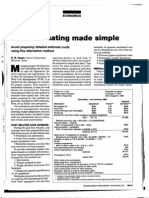 Cost Estimating Made Simple