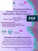 Innovations in Financing and Delivery of Cancer Care in Mexico
