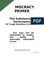 Democracy Primer--52 Tough Q&A 1.1