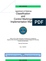 Department of Defense (DoD) Classification and Control Markings Implementation Manual (2008)