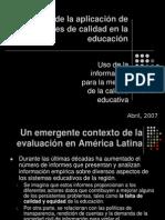 Uso de la información para la mejora de la calidad educativa MEXICO