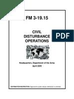 U.S. Army Civil Disturbance Operations