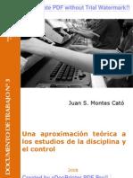 Una aproximación teórica a los estudios de la disciplina y el control