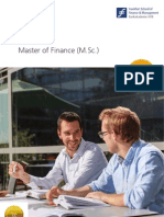Brochure Master of Finance