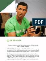 Patrocinio a Cristiano Ronaldo
