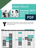 Oshawa Mary St YMCA Summer Schedule