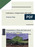 Labranza y Temperatura Del Suelo