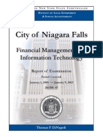 State Comptroller's audit of City of Niagara Falls