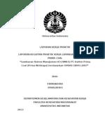 LAPORAN MAGANG KPC