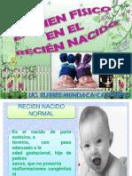 EXAMEN FÍSICO EN EL RECIEN NORMAL-EXPO