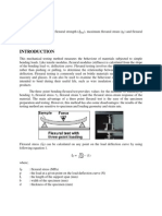 Flexural or Bending Test Lab Report