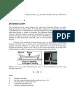 Flexural or Bending Test Lab Report