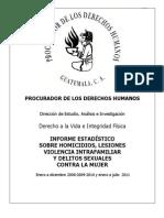 Informe Violencia Contra La Mujer 2008-2010 y 2011