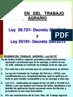 Trabajo Agrario Ley 26727