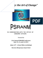 2013 PSRANM Conference Schedule