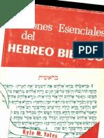 Yates Kyle Nociones Esenciales Del Hebreo Biblico