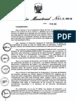 Para Conocimiento de Todos Los Directores de Las II.ee. Rm 0519-2012 Ed