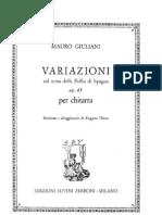Mauro Giuliani - Folia de Espanha (Op. 45)