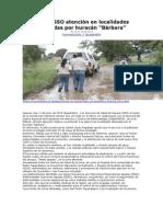 02/06/13 quadratinoaxaca Brinda SSO atención en localidades afectadas por huracán