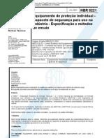 NBR 8221 Epi Capacete de Seguranca Para Uso Industrial
