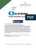 Informática para Concursos - CPRM 2013 - Questões comentadas