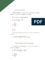 Definición de media aritmética