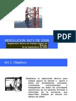 Presentación Resolucion 3673