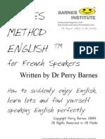 English for French Speakers @ Barnes Method English Méthode Barnes Anglais