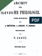 Archiv für slavische Philologie 9