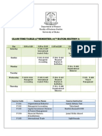 Digital Time Table 5th Semester