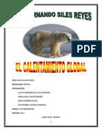 El Calentamiento Global Monografia