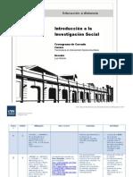 Cronograma Introducción a la Investigación Social