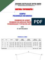 Ejemplo de Poligonal Con Brujula 2013