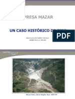 PRESA MAZAR, UN CASO HISTÓRICO