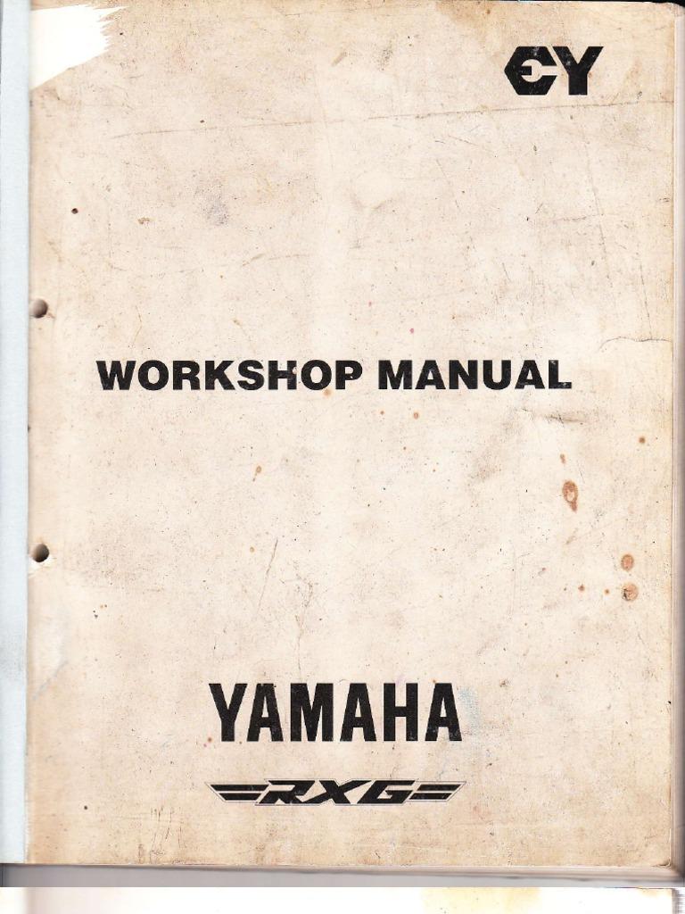 yamaha rx g service manual piston tire rh scribd com yamaha rx 135 5 speed owners manual yamaha rx135 workshop manual