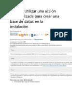 Tutorial Crear Base de Datos Durante La Instalacion