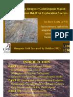 Orogenic Gold Deposit